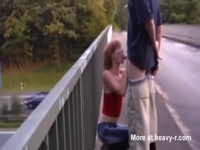 Skinny Teen Fucked On A Bridge