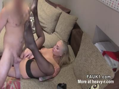 Busty Inked Blonde fucked During Casting