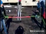 Russian bungee jump fail