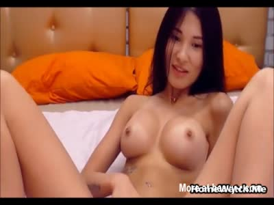 Busty Horny Asian Cant Stop Masturbating
