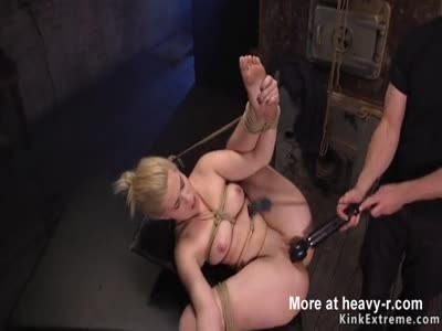 Blonde Trained With Metal Buckets