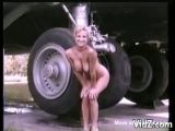 Wife flashes in front of aircraft