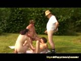 Grandpa Joins Outdoor Fisting Orgy