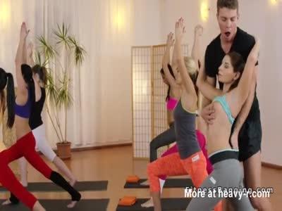 Yoga Teacher Groping Hot Student