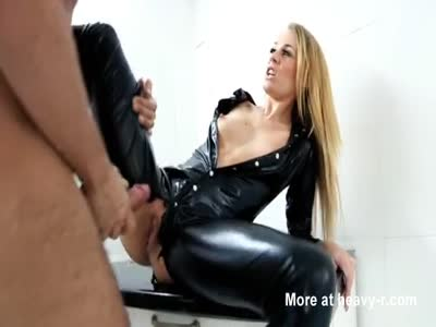 Fucking A Hot Babe In Latex Cat Suit