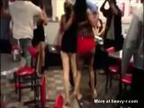 Panties Coming Off In Mass Brawl In Denny's