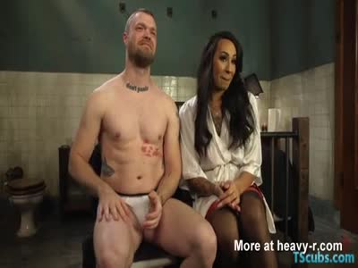Huge cock shemale seduction and cumshot