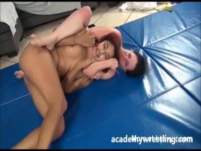 Nude Lesbo Wrestling Match