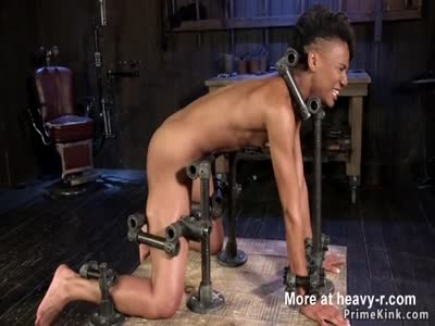 Slim Ebony Whipped In BDSM