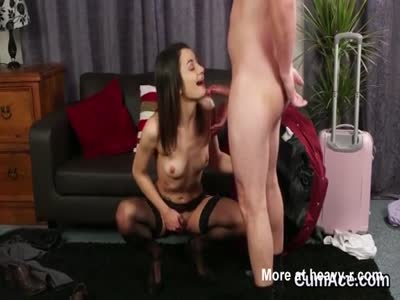 Kinky Girl Sucking The Boss