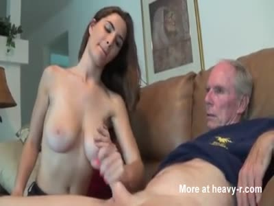 Letting Grandpa Play With Her Big Tits