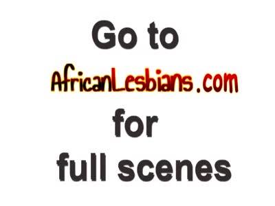 Ebony African lesbians licking pussy scissoring