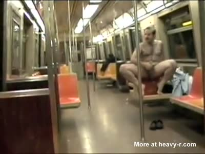 DAVID CHERIANO masturbates NYC Subway train with people!
