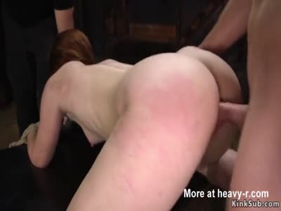 Gagged Redhead In Submission