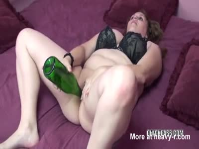 Stuffing Cunt With Wine Bottle