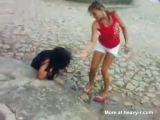 Favela Girl Beaten By Three Teen Girls