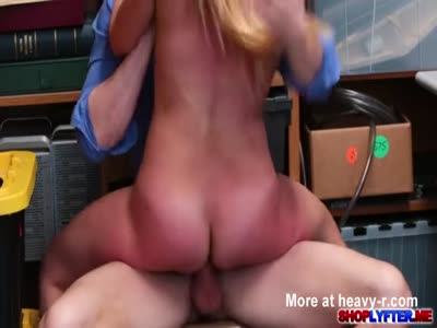 Blonde Shoplifter Slammed By Big Cock