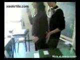 Student Grabs Teacher's Ass