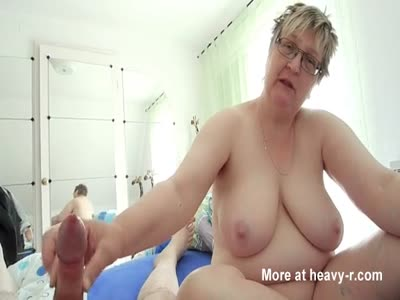 Mature Mom Giving Handjob