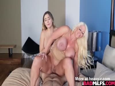 Blair Williams shares her boyfriends cock with her stepmom