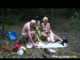 Mature Outdoor Threesome