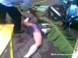 Schoolgirl In Skirt Lies Dead With Legs Wide Open