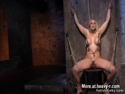 Huge tits slave ass caned in bondage