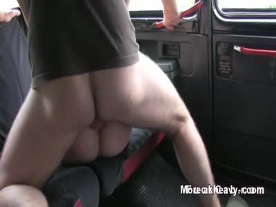 Blackmailed Brit Banged In Taxi
