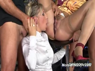 Astonished honey in undies is geeting peed on and poked