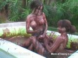 Strapin Dildo Mud Fight