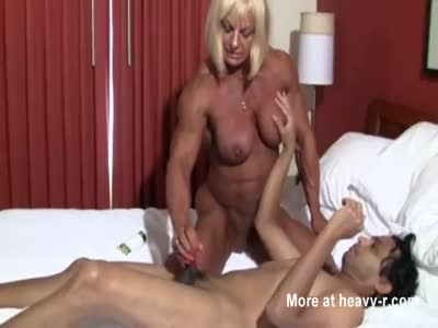 Female Bodybuilder Riding Dick