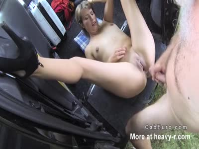 Natural Blonde Amateur Creamed In Taxi