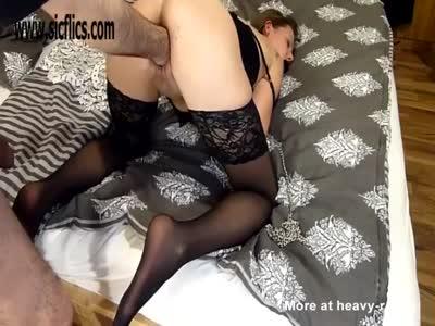 Brutally Fisting Bound Girlfriend