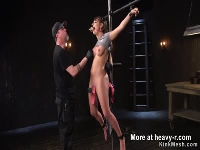 Busty Babe Tormented In Bondage Device
