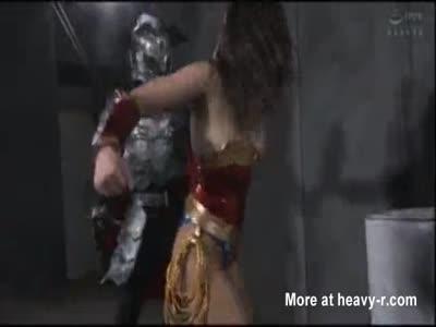 Superheroine Crucified