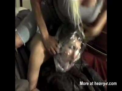 Suffocating Woman With Plastic Bag