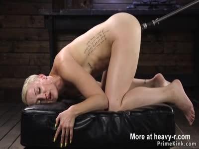 Machine Anal Fucking Blonde Tomboy Slut