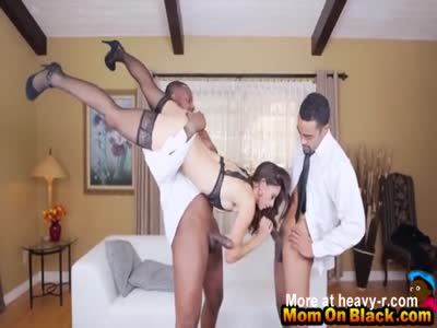 Classy Babe Fucking Two Black Guys