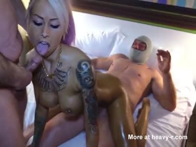 Sharing Blonde Slut