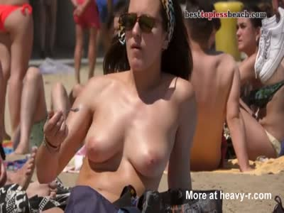 Busty Mom On The Beach