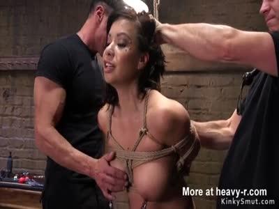 Big ass Asian slave anal fucked bondage