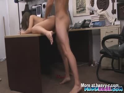 Brunette Big Cock Office fucked