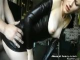 Blond Girl In Latex Fucks Hard