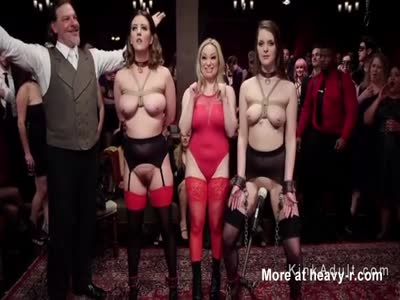 Female Slaves Submitted At Crowded Party