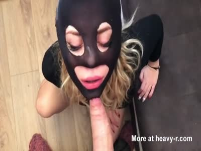 Masked Blonde Fuckface