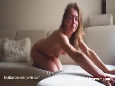 Hot fitness girl fucking on her period.