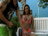 Black tranny Viviane Silva anal pounded with white dude