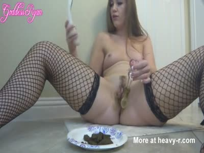 Stuffing Shit In Pussy