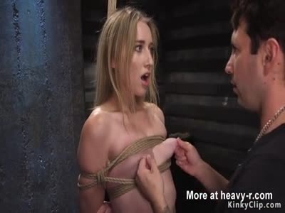 Blonde In BDSM Game