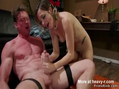 Dom Shoves Balls Up His Ass